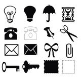 Silhouettes of different objects on a white background Stock Image