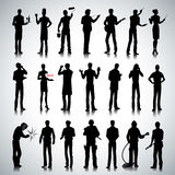 Silhouettes of different professions men Royalty Free Stock Photography