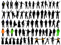 Silhouettes for different situation Royalty Free Stock Photography