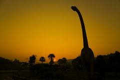 Silhouettes of dinosaurs Stock Photography