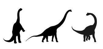 Silhouettes of dinosaurs royalty free illustration