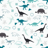 Silhouettes of dinosaurs. Stock Photo
