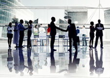 Silhouettes of Diverse Corporate Business People Stock Images