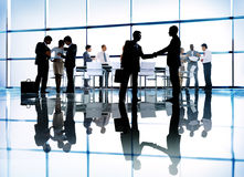 Silhouettes of Diverse Corporate Business People stock photo