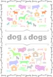 Silhouettes of dogs. Silhouettes of dogs in color royalty free illustration