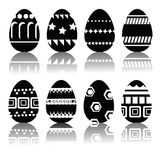 Silhouettes of easter eggs Stock Images