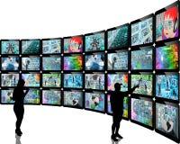 Silhouettes et écrans Photographie stock libre de droits