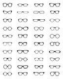 Silhouettes of eyeglasses Royalty Free Stock Image