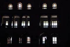 silhouettes fönster Arkivfoton