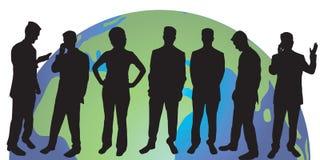 silhouettes för affärsfolk stock illustrationer