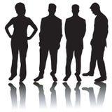 silhouettes för affärsfolk royaltyfri illustrationer