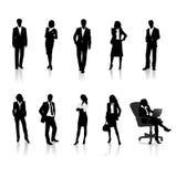 silhouettes för affärsfolk Arkivfoton