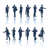 silhouettes för affärsfolk vektor illustrationer