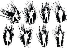 silhouettes för affärsfolk Royaltyfri Foto