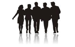 silhouettes för affärsfolk Royaltyfria Foton