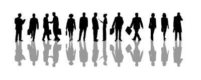 silhouettes för affärsfolk Arkivfoto