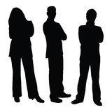 silhouettes för affärsfolk Fotografering för Bildbyråer