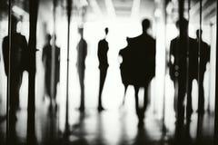 silhouettes för affärsfolk Royaltyfri Fotografi