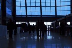 silhouettes för folk för affärsmitt Royaltyfri Bild