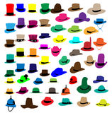 Silhouettes fashion hat Stock Photography