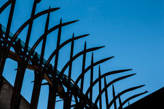Silhouettes of fences Royalty Free Stock Photo