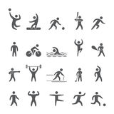 Silhouettes figures of athletes. Popular sports Stock Image