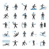 Silhouettes figures of athletes Royalty Free Stock Photos
