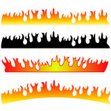 Silhouettes of Fire. Isolated on White Background Royalty Free Stock Images
