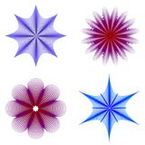 Silhouettes florales abstraites Photos libres de droits