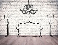 Silhouettes of the furniture Stock Photo