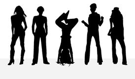 Silhouettes girl Royalty Free Stock Photography