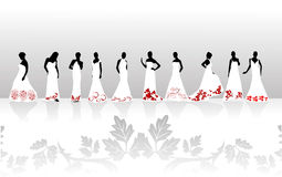 Silhouettes girls Royalty Free Stock Image