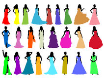 Silhouettes girls stock illustration