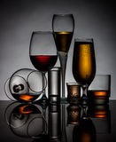 Silhouettes of glasses Stock Photography