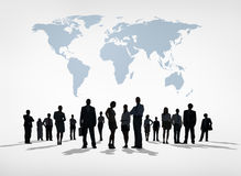 Silhouettes of Global Business People Royalty Free Stock Images
