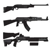 Silhouettes guns vector Royalty Free Stock Photography