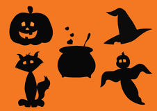 Silhouettes of halloween Royalty Free Stock Image