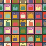 Silhouettes of handbag  flat icons.Seamless Royalty Free Stock Image