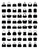 Silhouettes of handbags Stock Images