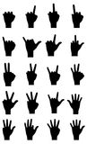 Silhouettes hands Royalty Free Stock Image