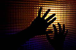 Silhouettes of hands Royalty Free Stock Images