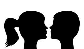 Silhouettes of heads Stock Photography