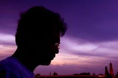 Silhouettes headshot. Royaltyfri Foto
