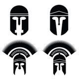 Silhouettes of helmet Stock Photo