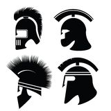 Silhouettes of helmet Royalty Free Stock Photography