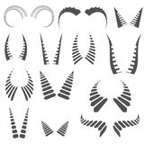 Silhouettes horns Royalty Free Stock Photos