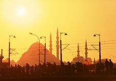 Silhouettes of Istanbul Royalty Free Stock Images