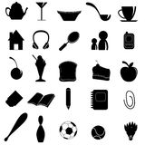 Silhouettes items Royalty Free Stock Photo