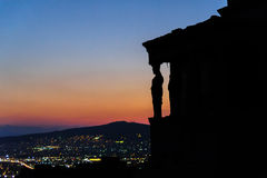Silhouettes of the Karyatides royalty free stock photos