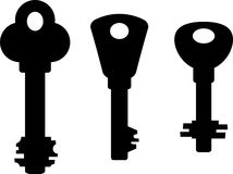 Silhouettes of keys Stock Image